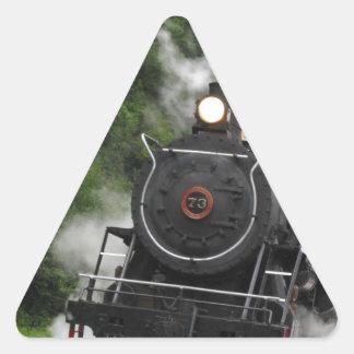 train steam rail railway station engine rails art triangle sticker