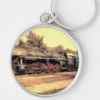 Train Steam Railroad Steampunk Engine Destiny Keychain