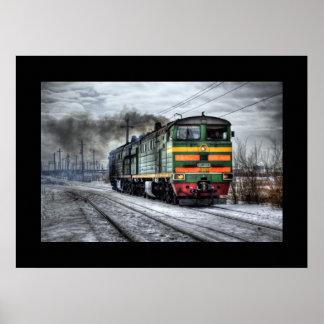 Train Steam Railroad Steampunk Engine Destiny Poster