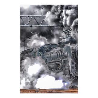 Train Steam Railroad Steampunk Engine Destiny Stationery