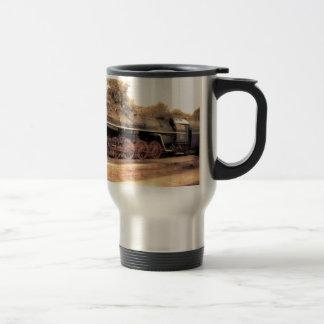 Train Steam Railroad Steampunk Engine Destiny Travel Mug