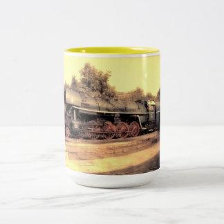 Train Steam Railroad Steampunk Engine Destiny Two-Tone Coffee Mug