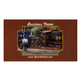 Train - Steam - The conductors job Business Card Templates