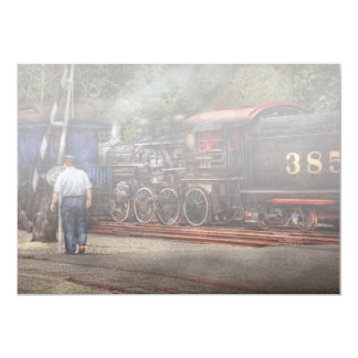 Train - Steam - The conductors job 5x7 Paper Invitation Card