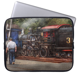 Train - Steam - The conductors job Laptop Sleeves