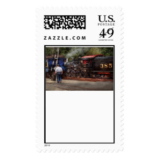 Train - Steam - The conductors job Postage Stamps