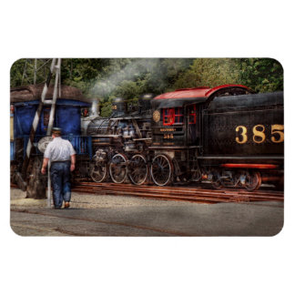 Train - Steam - The conductors job Rectangular Photo Magnet