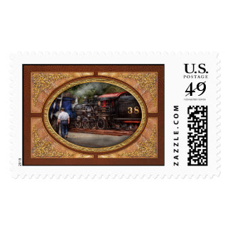 Train - Steam - The conductors job Stamps