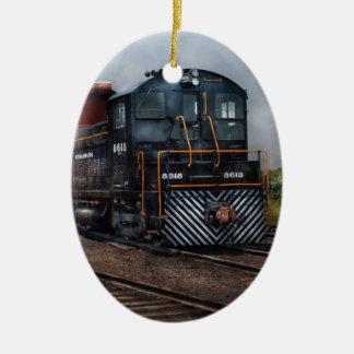 Train - Strasburg Repair Center Ceramic Ornament