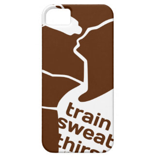 TRAIN SWEAT THIRST brown iPhone 5 Covers