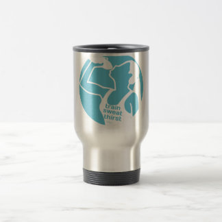 TRAIN SWEAT THIRST (F) blue Travel Mug