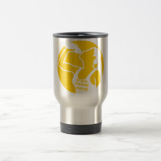 TRAIN SWEAT THIRST (F) yellow Travel Mug
