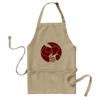 TRAIN SWEAT THIRST red Aprons