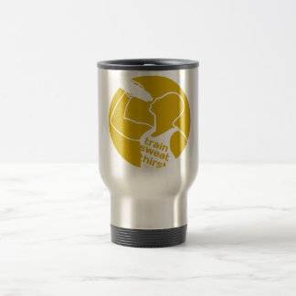 TRAIN SWEAT THIRST yellow Travel Mug
