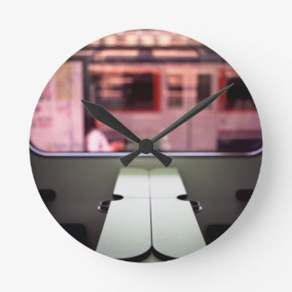 Train table and station Hasselblad medium format 1 Round Clock