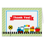 Train Thank You Card Folded Note Card
