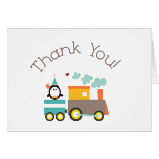 Train Thank You note card