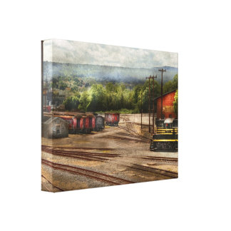 Train - The train graveyard Stretched Canvas Print