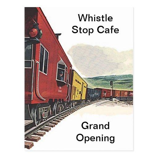 Train Theme Railroad RR Rail Travel depot POSTCARD