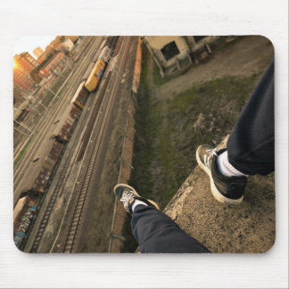 Train Themed, Sitting On A High Building Overlooki Mouse Pad