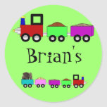 Train themed stickers Personalized