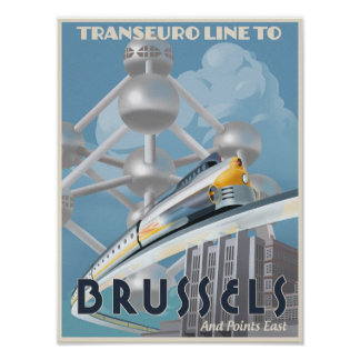 Train through Europe - of the Future! Poster