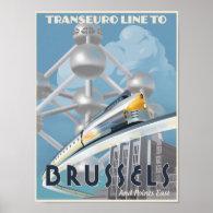 Train through Europe - of the Future! Print