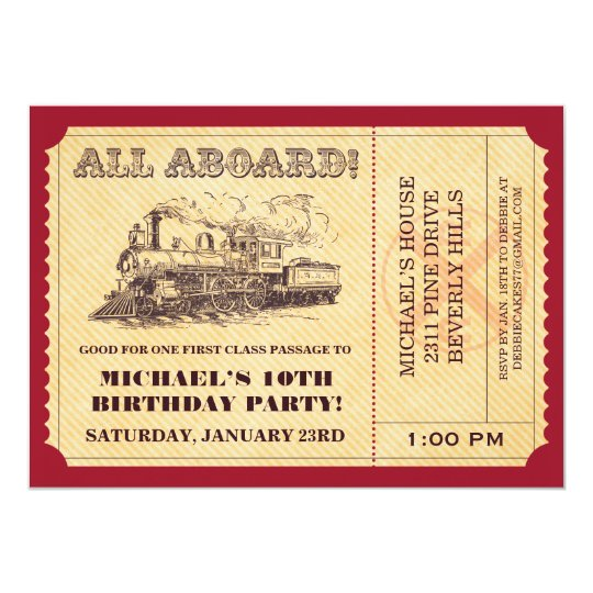 train birthday invitations & announcements | zazzle, Party invitations