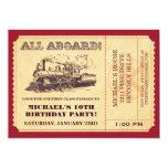 "Train Ticket Invitations 5"" X 7"" Invitation Card"