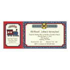 Train Ticket Invite - Rustic Red & Blue 2
