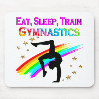 TRAIN TO BE A GYMNASTICS CHAMPION MOUSE PAD