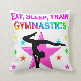 TRAIN TO BE A GYMNASTICS CHAMPION THROW PILLOW