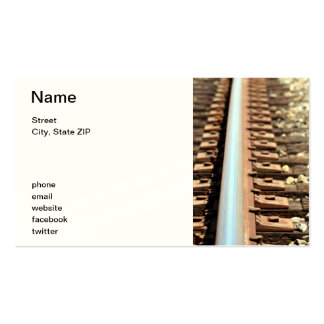 Train Track Business Card Templates