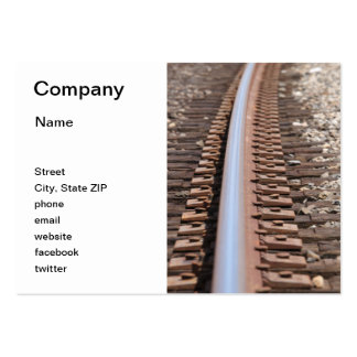 Train Track Business Card Template