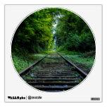Train Track Landscape Circle Window Wall Sticker