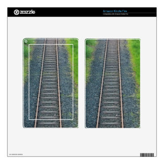 Train Track Railway in Nature, Landscape Kindle Fire Skin