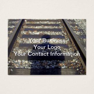 Train Track Shadow Business Card