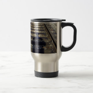 Train Track Shadow Travel Mug