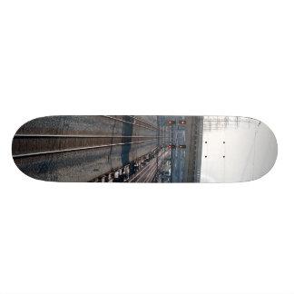 train tracks and resevoir skate board decks