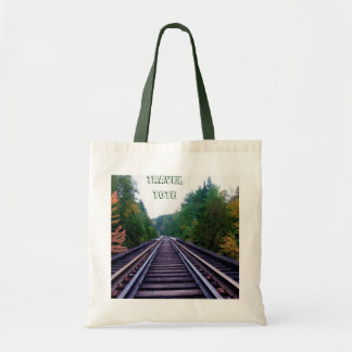 Train Tracks and Trees Travel Tote Tote Bags