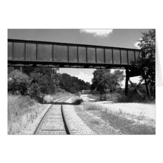 Train Tracks Card