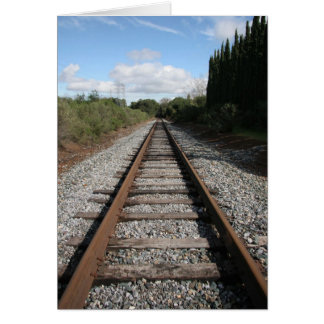 Train Tracks Card