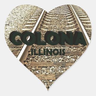Train Tracks Colona Illinois Heart Sticker