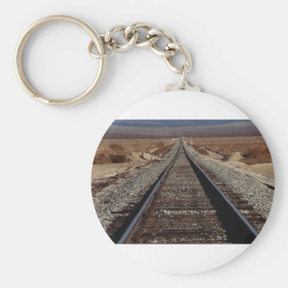 Train tracks, Mojave Desert, California, U.S.A. Keychains