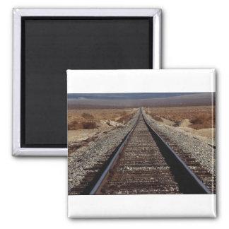 Train tracks, Mojave Desert, California, U.S.A. Magnet