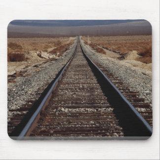 Train tracks, Mojave Desert, California, U.S.A. Mouse Pad