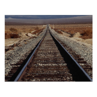 Train tracks, Mojave Desert, California, U.S.A. Postcard