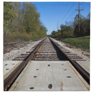 Train Tracks Napkin