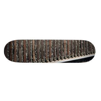 train tracks on gravel skate decks
