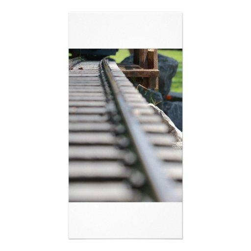 Train Tracks Photo Card